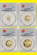2018 China Pure Gold Panda 4 Coins Set Pcgs Ms 70 First Strike