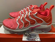 New Nike Air Vapormax Plus Pink Blast White Running Shoes Cz7995-001 Womens Size