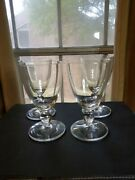 Wedgwood Sarahand039s Garden Clear Glass Water Goblet 1997 Collectible Rare Set Of 4