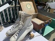 Vintage Womens Size 9 Hydeandrsquos Betty Little Roller Skates With Original Box