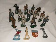 Vintage Metal/lead Figure Mixed Lot 14 Toy Soldier Sailor Barclay Plus Assorted