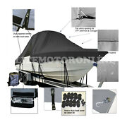 Key West 244 Cc Center Console T-top Hard-top Fishing Storage Boat Cover Black