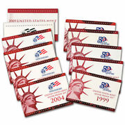 1999 - 2009 Silver Proof Sets 11 Set Package - 127 Coins