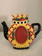 Vtg Rare Mary Engelbreit Queen Princess Crown Teapot Picture Photo Frame Andcopy1998