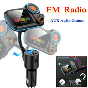 12-24v Bluetooth Car Fm Transmitter Mp3 Player Hands Free Radio Usb Fast Charger