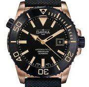 Argonautic Bronze 300m Diver Black 42mm Automatic Limited Edition Made In Swiss