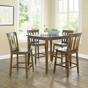 Mainstays 5-piece Mission Counter-height Dining Set Multiple Colors Set Of 5