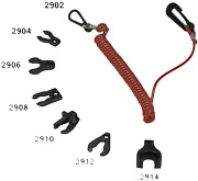 Marine Sea Security Stop Key Coiled String