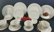 Gibson Designs-white Elements Dinner Set-service For 4 - 5 Pc. Per Place Setting