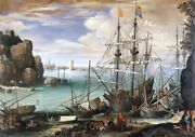 Nautilus Wooden Puzzles View Of A Port By Paul Brill 425 Piece Jigsaw Puzzle