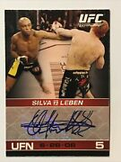 2009 Topps Ufc Card Round 1 Anderson Silva Autograph Auto Rc Rookie