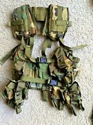 Us Army Issue 40mm Tactical Grenade Carrier Load Bearing Vest Woodland Camo H-4