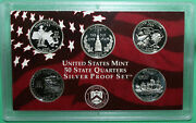 1999 - 2009 Silver Sthd Quarter Proof Sets 11 Set Package - 56 Coins