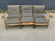 Calif-asia Bamboo Rattan Sectional With Lounge Chair