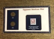 Opposes Mexican War, 1935 And 1936 Pennies And 1995 President Polk 32 Cent Stamp