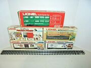 Lionel Lot Of Five Freight Cars With Original Boxes O Gauge