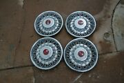 Vintage Set Of 4 Chevrolet Corvette Hubcaps Very Heavy 16725 253786
