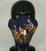 Handmade Polo Equestrian Match Face Mask Large