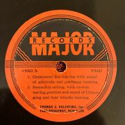 Major Records 5023 78rpm Sound Effects Greyhound Bus/steamship/forest Fire