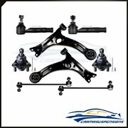 For 2000-2005 Toyota Celica 8x Front Control Arms Ball Joints Tie Rods Sway Bars