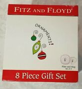 Fitz And Floyd Christmas Mugs And Plates Set Of 8 New In Open Box