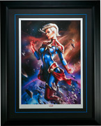 Sideshow Fine Art Print Captain Marvel Exclusive By Ian Macdonald New Framed