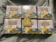 Vivid Voltage Booster Box Sealed Lot Of 6 With Full Art Pikachu Card Included