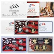 2007 Silver Sthd Proof Sets 14 Coins