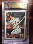 2011 Topps Update Mike Trout Rookie Bgs 9.5 Gem Mint Rc Angels
