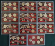 2000 - 2020 Silver Quarter Only Proof Sets 21 Set Package - 111 Coins