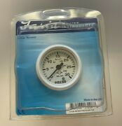 Faria 13108 Dress White 2 Water Pressure Gauge Kit - 30 Psi