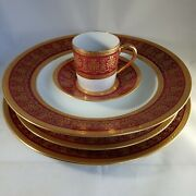 Limoges Edith Pascale - Ch Field Haviland Porcelaine Ribes - 4 Plates And Cup St02