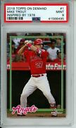 Psa 9 2018 Topps On Demand Mike Trout 1 Inspired By '78 /2040