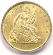 1843-o Seated Liberty Half Dollar 50c Coin - Certified Icg Ms62 - 2,190 Value