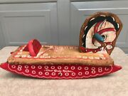 Rare Vtg Cass Toys Wooden Toddler Baby Rocker Rocking Horse Painted Wood Antique