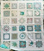 Newly Hand Made Vintage Handkerchief Queen King 89x105 Large Aqua Lilly Pulitzer