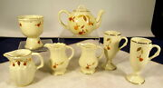 Vtg Lot Of 7 Hall N.a.l.c.c Autumn Leaf China Collectibles And Club Teapot