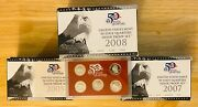 17 Sets - United States Mint 50 State Quarters Silver Proof 2005 2007 2008