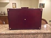Asprey Vintage Leather Travel Suitcase 26andrdquo Made In Italy