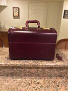 Asprey Vintage Leather Train Travel Suitcase 18andrdquo Made In Italy