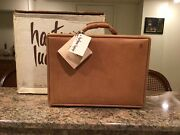 Hartmann Belting Leather Attaché British Tan Briefcase New In Box Made In Usa