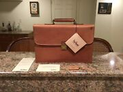 Hartmann Belting Leather Flapover Messenger Briefcase Attache Made In Usa Nos