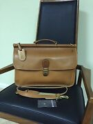 Hartmann Belting Leather Flapover Messenger Briefcase Rare Made In Usa/italy