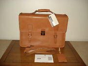 Hartmann Belting Leather Flapover Messenger Briefcase Attache Made In Usa