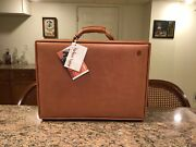 Hartmann Belting Leather Nos 5 Deluxe Attache W/ Work Panel And Fan File Made Usa