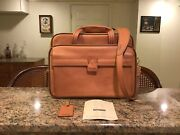 Hartmann Belting Leather Travel Duffel Slides On Extending Handle Of Luggage Nos