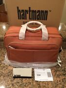 Hartmann Rare Belting Leather Expandable Briefcase Duffel Nos Nib Made In Usa