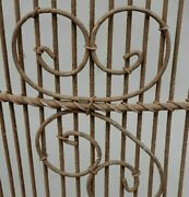 Antique Woven Wire Fireplace Screen Primitive Folk Art Hand Made Farmhouse Style