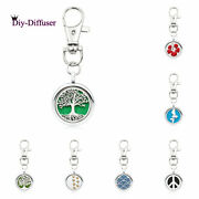 25mm Alloy Keychain Pendant Aromatherapy Essential Oil Diffuser Locket Keyring