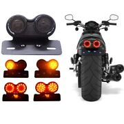 Universal Motorcycle Red Led Tail Light Rear Brake Lamp Modification Indicator